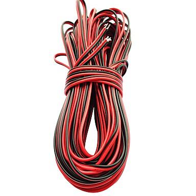 5m geleid lichtstrip verlengkabel voor smd 8mm 3528 10mm 5050 5630 enkele kleuren 2pin waterdichte led strip lichten connector kabel