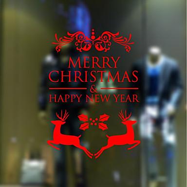 Autocolante de Perete Decorative - Autocolante perete plane Romantic Crăciun Vacanță Sufragerie Cameră de studiu / Birou Magazien /