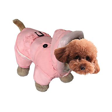كلب حللا ملابس الكلاب سادة رمادي أحمر زهري قطن كوستيوم للحيوانات الأليفة كاجوال/يومي
