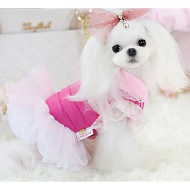 كلب الفساتين ملابس الكلاب كاجوال/يومي سادة فوشيا أزرق كوستيوم للحيوانات الأليفة