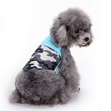 Câine Haine Hanorca Γιλέκο Îmbrăcăminte Câini Petrecere Casul/Zilnic Sport Modă Bloc Culoare Albastru Costume Pentru animale de companie