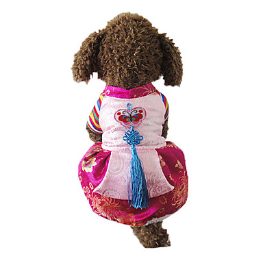 Câine Rochii Îmbrăcăminte Câini Modă Brodat Rosu