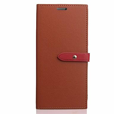 Hülle Für LG Kreditkartenfächer Handyhülle für das ganze Handy Volltonfarbe Hart Kunst-Leder für LG G5 LG G6