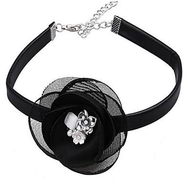 Damen Halsketten Blumenform Leder Sexy Modisch Einstellbar überdimensional Schmuck Für Party Sonstiges Festtage Ausgehen