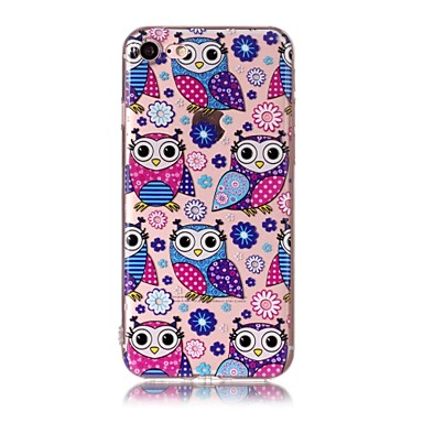 hoesje Voor Apple Patroon Achterkantje Uil Zacht TPU voor iPhone 7 Plus iPhone 7 iPhone 6s Plus iPhone 6 Plus iPhone 6s Iphone 6 iPhone