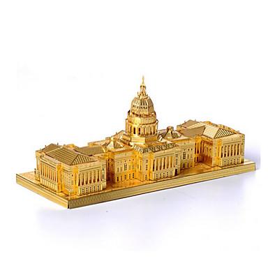 3D-puzzels Legpuzzel Beroemd gebouw Architectuur 3D Roestvast staal Metaal Unisex Geschenk