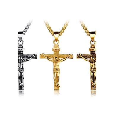 collier pendentif homme acier au titane croix personnalis. Black Bedroom Furniture Sets. Home Design Ideas