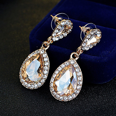Pentru femei Cercei Picătură Ștras Design Unic Stil Atârnat Clasic Aliaj Bijuterii Auriu Nuntă Petrecere Ocazie specială Aniversare Zi de