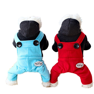 Hond harnassen Hondenkleding Casual/Dagelijks Effen Rood Blauw