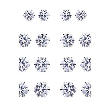 Pentru femei Zirconiu Cubic Zirconiu Set bijuterii - Sexy Natură Confecționat Manual Modă Gotic Geometric Shape Alb Negru Cercei Stud