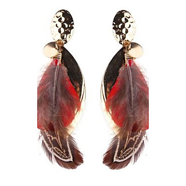 Damen Tropfen-Ohrringe Vintage überdimensional Modisch Aleación Feder Schmuck Für Bühne Festtage Ausgehen
