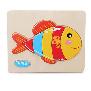 تركيب ألعاب سمك خشبي غير محدد قطع