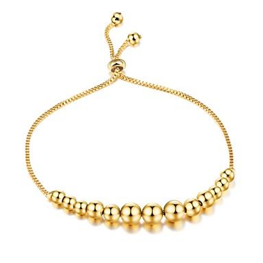 Pentru femei Brățări cu Lanț & Legături Zirconiu Cubic Lux De Bază Modă Adorabil Zirconiu Placat Auriu Circle Shape Bijuterii Crăciun