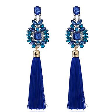 Dames Druppel oorbellen Synthetische Sapphire Gepersonaliseerde Vintage Modieus Oversized Bloem Sieraden Feest Anders >> Ceremonie