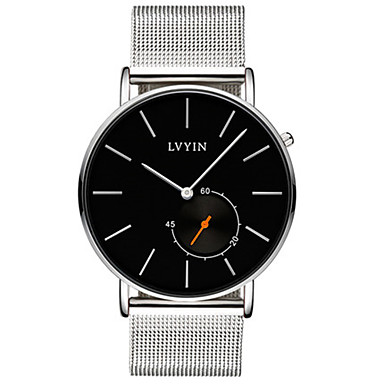 Heren Modieus horloge Kwarts Waterbestendig Legering Band Zwart Zilver Goud
