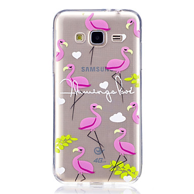 hoesje Voor Samsung Galaxy J7 (2017) J3 (2017) Patroon Achterkant Flamingo Zacht TPU voor J7 V J7 Prime J7 (2017) J7 (2016) J5 Prime J5