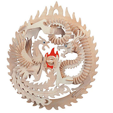 3D - Puzzle Holzpuzzle Berühmte Gebäude Architektur 3D Heimwerken Holz Naturholz Chinesischer Stil Unisex Geschenk