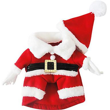 كلب ازياء تنكرية عيد الميلاد ملابس الكلاب عيد الميلاد قطن كوستيوم للحيوانات الأليفة للرجال للمرأة عيد الميلاد