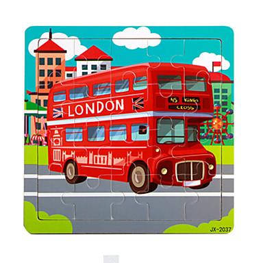 Houten puzzels Bus Plezier Klassiek 6 jaar en ouder