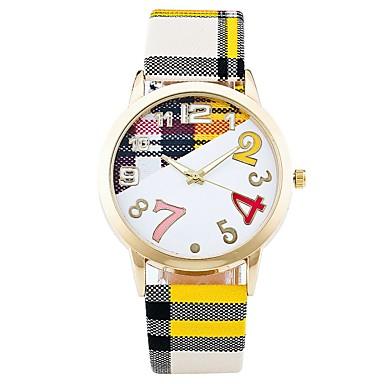 Pentru femei Unic Creative ceas Ceas Casual Ceas La Modă Ceas de Mână Chineză Quartz Material Bandă Casual Elegant Alb Albastru Maro