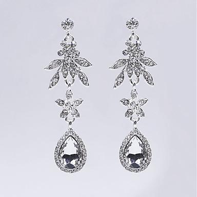 Pentru femei Floral Cristal Perle Gri Cercei Stud / Cercei Picătură / Cercei Rotunzi - Floral Argintiu neregulat cercei Pentru Crăciun /