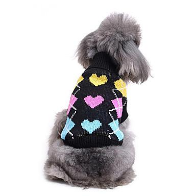 Katze Hund Pullover Hundekleidung Lässig/Alltäglich Herz Kostüm Für Haustiere