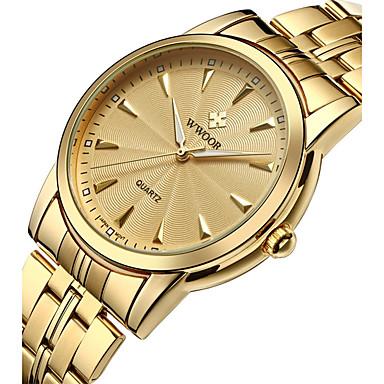 Недорогие Часы на металлическом ремешке-Муж. Повседневные часы Модные часы Нарядные часы Кварцевый Нержавеющая сталь Серебристый металл / Золотистый Защита от влаги Творчество Аналоговый Роскошь Классика На каждый день Элегантный стиль -