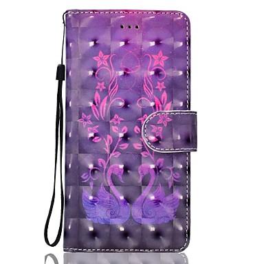 Pentru Apple iphone 7plus 7 telefon cazul pu piele material lebada model 3d pictură telefon caz 6s plus 6plus 6s 6 se 5s 5
