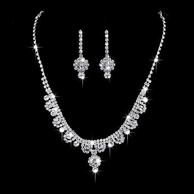 Pentru femei Cercei Picătură Lănțișor Ștras Zirconiu Cubic Clasic Elegant Nuntă Logodnă Ceremonie Argintiu Floare