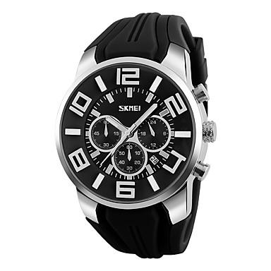 Herrn Modeuhr Armbanduhr Einzigartige kreative Uhr Sportuhr Kleideruhr Chinesisch digital Kalender Wasserdicht Silikon Band Charme