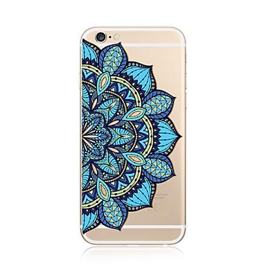 hoesje Voor Apple iPhone X iPhone 8 Plus Transparant Patroon Achterkant Mandala Zacht TPU voor iPhone X iPhone 8 Plus iPhone 8 iPhone 7