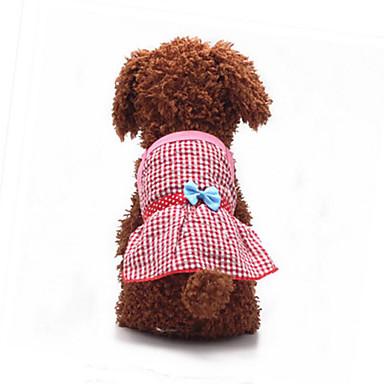Hond Jurken Hondenkleding Ademend Casual/Dagelijks Strik Geel Rood Blauw Roze Kostuum Voor huisdieren
