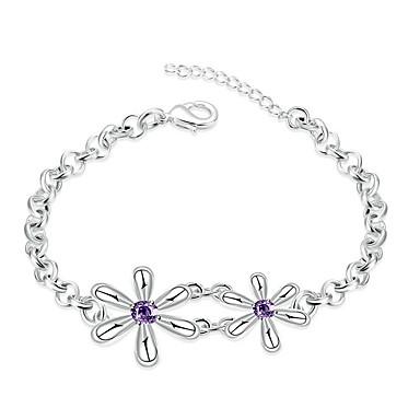 Pentru femei Fete Brățări cu Lanț & Legături Cristal Floral Prietenie Modă stil minimalist Argilă Floare Bijuterii Nuntă Petrecere Zi de