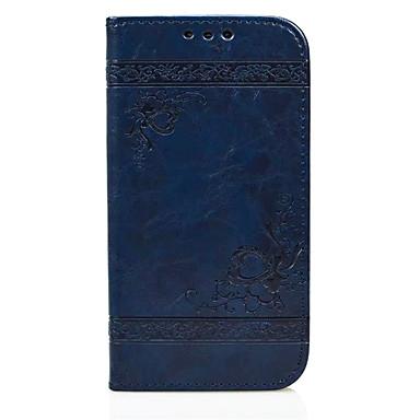 Недорогие Чехлы и кейсы для Galaxy S6-Кейс для Назначение SSamsung Galaxy S6 edge / S6 / S5 Кошелек / Бумажник для карт / со стендом Чехол С сердцем Твердый Кожа PU