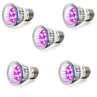 5W E14 GU10 E27 Lampy szklarniowe LED 10 SMD 5730 165-190 lm Czerwony Niebieski V 5 sztuk