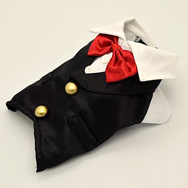 Câine Σμόκιν Îmbrăcăminte Câini Nod Papion Poliester Costume Pentru animale de companie Bărbați Pentru femei Petrecere Nuntă