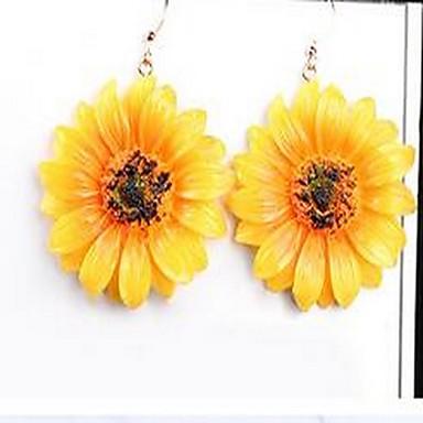 للمرأة أقراط قطرة مجوهرات تصميم بسيط موضة نمط بوهيميا اسلوب لطيف سبيكة Flower Shape مجوهرات من أجل يوميا مواعدة عطلة ذهاب للخارج