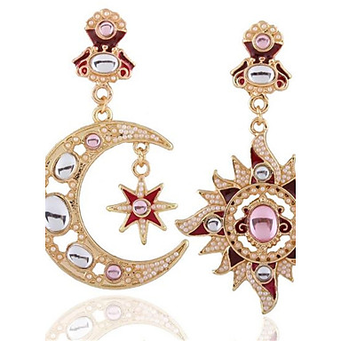 50a6cdc23 Women's Oversized Mismatched Stud Earrings Earrings Sun Moon Ladies Vintage  Oversized Jewelry Gold For Gift Stage