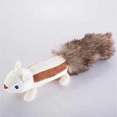 Jucării Cățel Jucării Animale Jucării pluș Jucării chițcăitoare Drăguț Țipăt ascuțit Veveriță Blană Artificială Pentru animale de companie