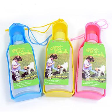 L Pisici Câine Boluri & Sticle de Apă Animale de Companie  Castroane & Hrănirea Portabil Galben Albastru Roz