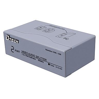 VGA Splitter, VGA to VGA 3,5 mm audio jack Splitter Vrouwelijk - Vrouwelijk