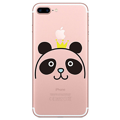 hoesje Voor Apple Transparant Patroon Achterkantje Cartoon Panda Zacht TPU voor iPhone 7 Plus iPhone 7 iPhone 6s Plus iPhone 6 Plus