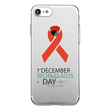 hoesje Voor Apple iPhone 7 Plus iPhone 7 Transparant Patroon Achterkant Woord / tekst Zacht TPU voor iPhone 7 Plus iPhone 7 iPhone 6s