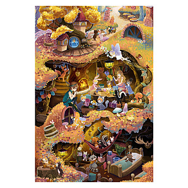 Puzzle Castel Clădire celebru Casă Arhitectură Desen animat Lemn Unisex Cadou