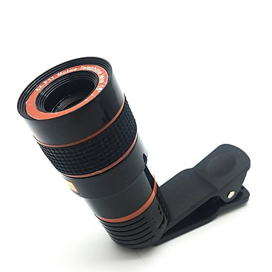 Telescop camera obiectiv hd 8x optic zoom telescop obiectiv pentru telefonul mobil cu clemă universală potrivite pentru iphone samsung lg