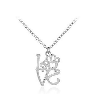 للمرأة قلائد الحلي مجوهرات سبيكة تصميم بسيط موضة أسلوب بسيط مجوهرات من أجل تخرج الغير هدية يوميا فضفاض