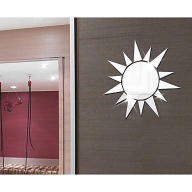Autocolante de Perete Decorative - Acțibilduri de Oglindă Abstract / Forme / #D Sufragerie / Dormitor / Cameră de studiu / Birou
