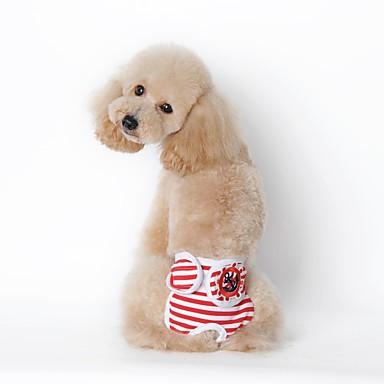 Hund Pyjamas Hundekleidung Streifen Schwarz Rot Marineblau Baumwolle Natürliche Schwämme Kostüm Für Haustiere Lässig/Alltäglich