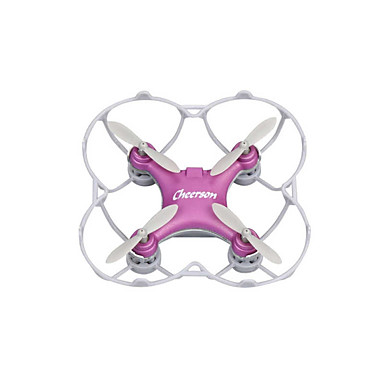 RC Drone Cheerson CX10SE Purple 4-kanaals 6 AS 2.4G RC quadcopter LED verlichting 360 Graden Fip Tijdens Vlucht Zweven RC Quadcopter