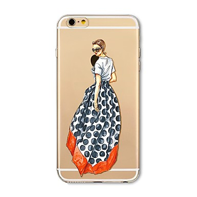 hoesje Voor Apple iPhone X iPhone 8 Plus Transparant Patroon Achterkantje Sexy dame Zacht TPU voor iPhone X iPhone 7s Plus iPhone 8
